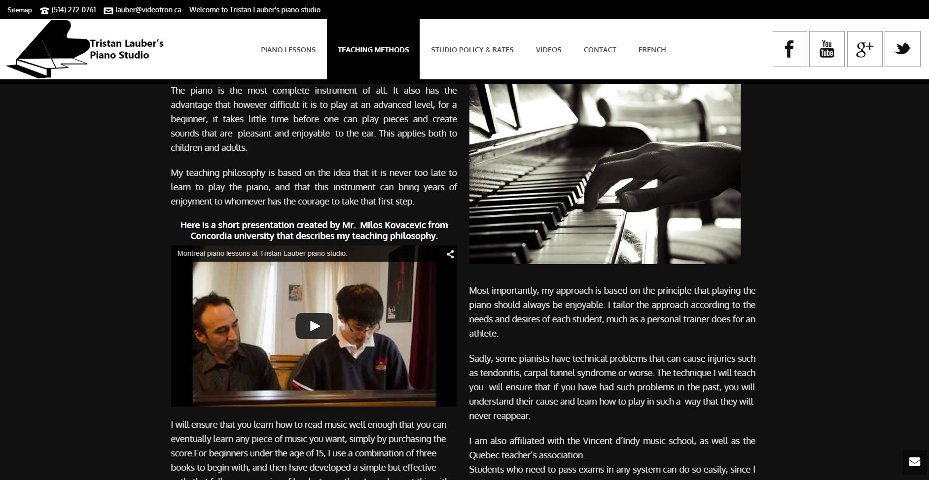 Teaching Methodology _ Montreal Piano Lessons